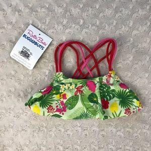 Ruffle Butts Flounce Bikini Top ONLY Tropical